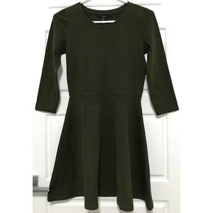 TOPSHOP A-Line Dress with Long Sleeves